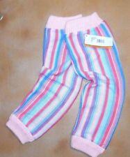 NWT Harmonie HVS01 Striped Legwarmers Soft Knitted Ladies Ribbed Cuff