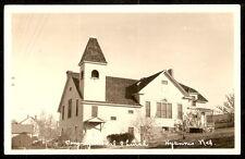 RPPC 1920's CONGREGATIONAL CHURCH Nebraska HYANNIS Real Photo PC Postcard RP