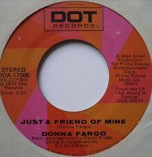 """Donna FARGO-solo un mio amico/Non si può essere un Beacon-ex con 7"""" singolo"""