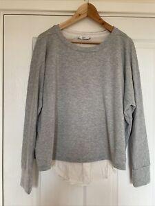 Vince Grey And White Layered Designer Sweater Size Medium