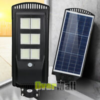 250W LED Solar Flood Light Spot Lamp Outdoor Garden Wall Street Light IP65+Pole