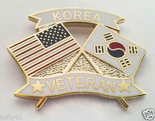 KOREA VETERAN with FLAGS Military Veteran Hat Pin 15154 HO