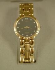 VTG NIB MEN'S NOBLIA/CITIZEN 13 DIAMOND ANALOG QUARTZ DRESS WATCH~BD/GOLD PLATED