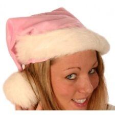 Santa Hat Plush Fine Pink 45cm Long H6622P