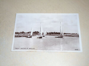 EARLY REAL PHOTO PC - YACHT RACING, BECCLES, NORFOLK BROADS, NORFOLK
