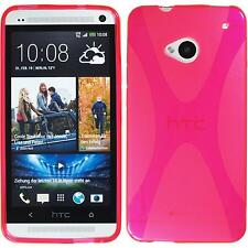 Coque en Silicone HTC One - X-Style rose chaud + films de protection