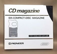 Pioneer PRW1023 Six CD Magazine for Home and Car Black with Sleeve