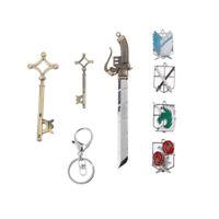 Llavero de Anime Prendedor Colgante Set de Espada  Shingeki no Kyojin