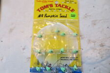 12 Pumpkin seed 1/16 oz. jigs Fishing walleye crappie bass, ice fish, green