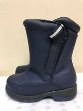 Lands End kids   Insulated  winter boots in navy color size US  10 M