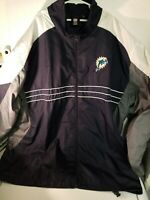 Men's REEBOK NFL Team Apparel Miami Dolphins Blue Jacket Size XXL