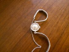 Vintage Omega Ladies Wristwatch 14K White Gold  Good Condition Estate Jewelry