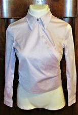 VTG ESCADA PALE LAVENDER WRAP BLOUSE-36