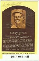 Early Wynn Signed Hall Of Fame Postcard Auto Autograph