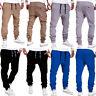 Mens Harem Trousers Tracksuit Bottoms Skinny Jogger Gym Sweat Track Pants Pocket