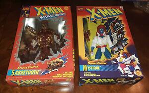 X-Men SABERTOOTH & MYSTIQUE Action Figure Lot, Marvel Toy Biz, 1994 (New in Box)