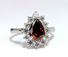 GIA Certified 1.47ct Natural Fancy Orange Brown Diamond Halo Ring  14 Karat