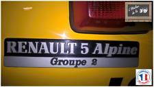 Monogramme Hayon Renault 5 Alpine Groupe 2