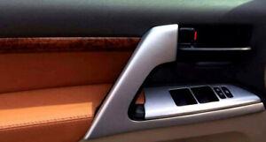 for Toyota Land Cruiser LC200 2008-2016 Matt Door Armrest Stripe Cover Trim 4PCS