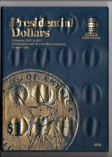 Presidential coins 2007 to 2011 & book.  Complete P & D Mint sets, Great gift
