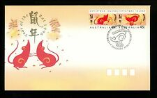 Postal History Christmas Islands Scott #376-377 FDC Year of the Rat 1/9/1996