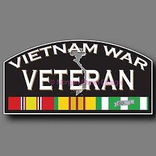 Vietnam War Combat Veteran Decal Sticker Die Cut