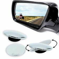 Zone Tech Blind Spot Adjustable Rotatable Car Exterior Round Thin Mirrors Stick