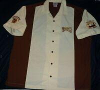 Disney Disneyland Resort Grumpy's Tavern Mens Embroidered Bowling Shirt XL