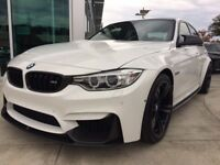 BMW M3 M4 F80 F82 F83 Fiber Glass Performance Side Extensions Blades Side Skirts