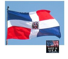 Dominican Republic 3x5 Heavy Duty Super-Poly Indoor/Outdoor Flag Banner*Usa Made