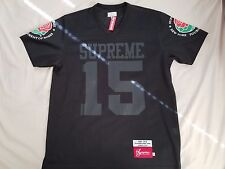 Supreme Roses Football Top Black L Large jersey box logo comme tee rose bowl m