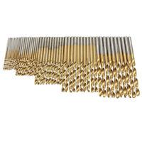 50 Stueck 1/ 1.5/ 2.0/ 2.5/ 3 mm Titan Beschichteter HSS Bohrer SG5D6 T3H7 V0U7