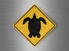 Autocollant sticker laptop macbook panneau route attention tortue warning