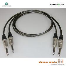 2x 1m Instrumentenkabel -SPIRIT XXL NEUTRIK C-Sommer Cable Klinke 6,3 gerade-ger