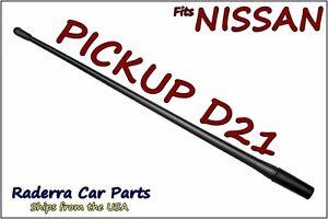 "FITS: 1986-1997 Nissan Pickup D21 -13"" SHORT Custom Flexible Rubber Antenna Mast"