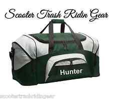 Personalized Monogram LARGE 27' duffle overnight sports bag Green grey black NEW