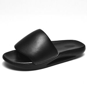 Mens Open Toe Summer Beach Slip On Sandals Slippers Mules Shoes Breathable 39-45