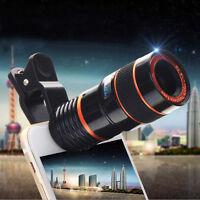8x Zoom Optical Camera Telephoto Telescope Lens Holder Kit For Mobile Cell Phone