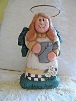 Vintage Christmas Figurine - RESIN GARDENING ANGEL