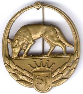 Old German Shepherd Item WWII - No. 1 714 -Bronze orig. Nadel, I/II