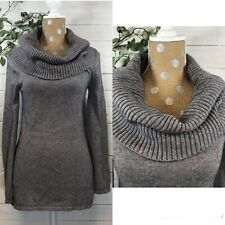 Ugg Gray Cowl Turtleneck Pullover Sweater Tunic Womens Size Xs