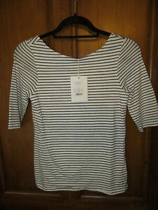 ladies short sleeve stripe t-shirt large  JIGSAW nwt £37