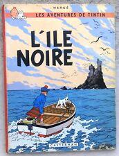 """Tintin L'île Noire B36 EO """"Bob De Moor""""  Mate 1966 BE+ cahier TTBE"""