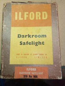 Vintage Ilford Darkroom Safelight Iso. No.906