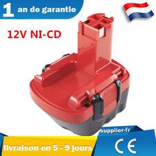 12V Batterie NI-CD pour Bosch PSR 12ve-2, PSB 12 VE-2, BAT043, BAT139 2607335531