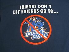 1380-Boise State University Broncos Football  Friends T Shirt Blue SZ M EUC