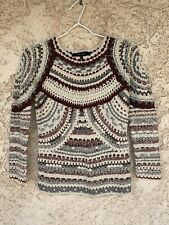 Pull Crochet Isabel Marant Grand Ligne Sweater Ajouree Lurex 34 Cs
