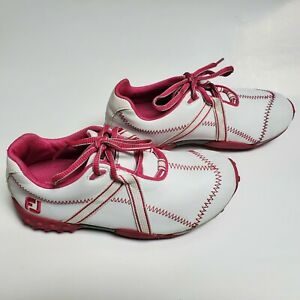 FootJoy Girl's White & Pink Golf Shoes US Size 3M #48204 (Used) Good Condition