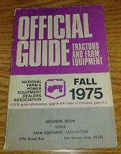 Fall 1975 Tractors and Farm Equipment