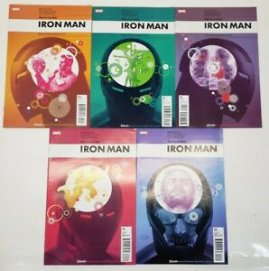 Lot Of 5 2010 Marvel Comic Book Iron Man Stark Disassembled Complete Set 1-5